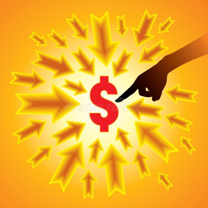 美元增长概念 库存例证
