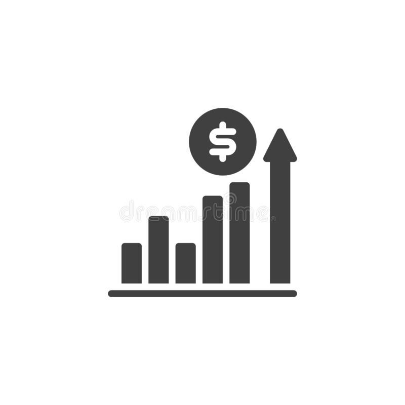 美元增长率传染媒介象 向量例证
