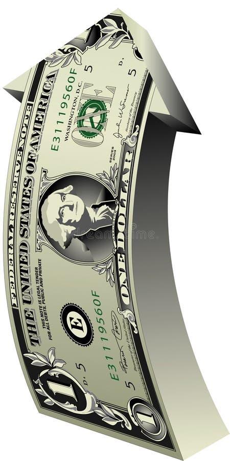 美元增长 向量例证