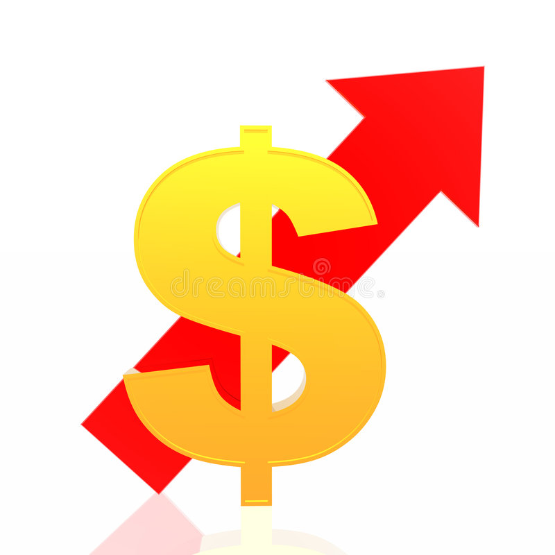 美元增长 库存例证