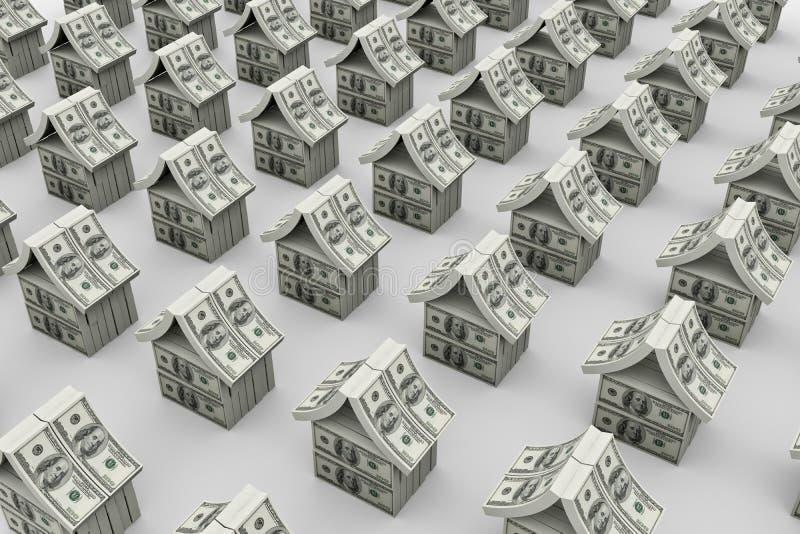 美元房子 库存例证
