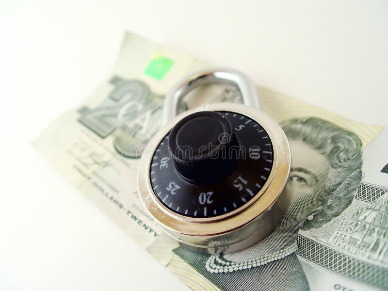 美元挂锁二十 库存图片