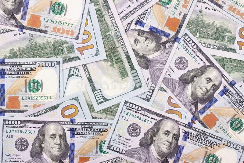 100美元摘要金钱现金背景 免版税库存图片