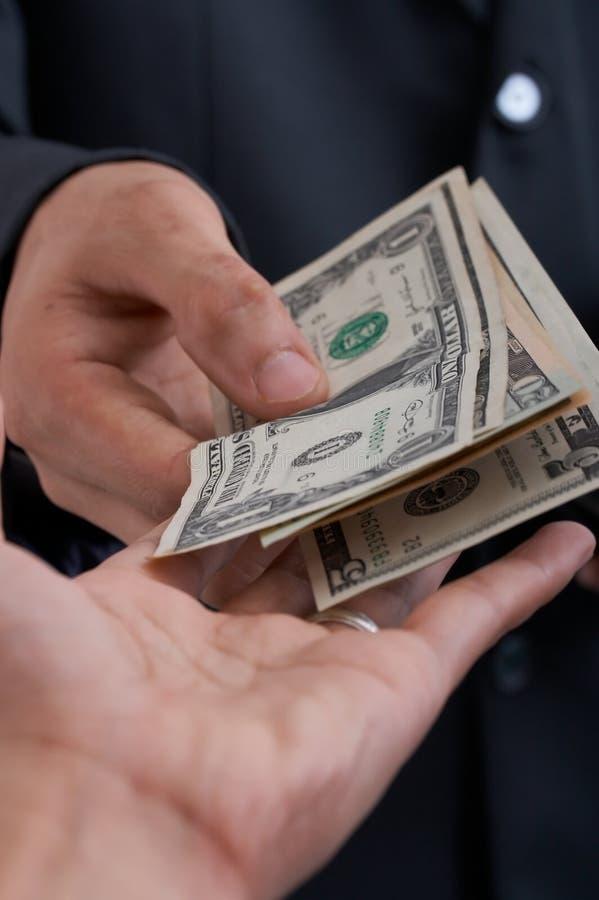 美元支付 免版税图库摄影