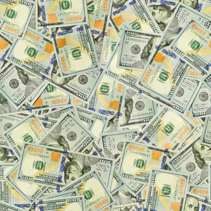 美元无缝的纹理 免版税库存图片