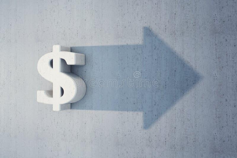 美元是增长 向量例证