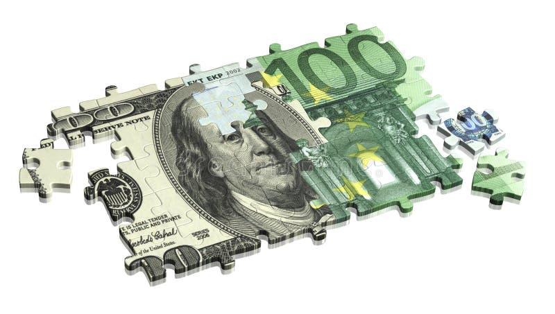 美元欧元 向量例证