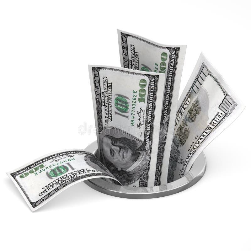 美元流失 库存例证