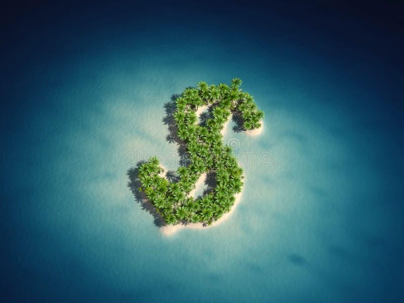 美元海岛 向量例证