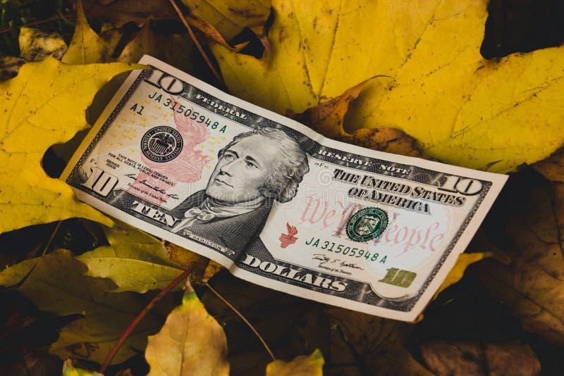 美元的下跌的价值的概念 免版税图库摄影