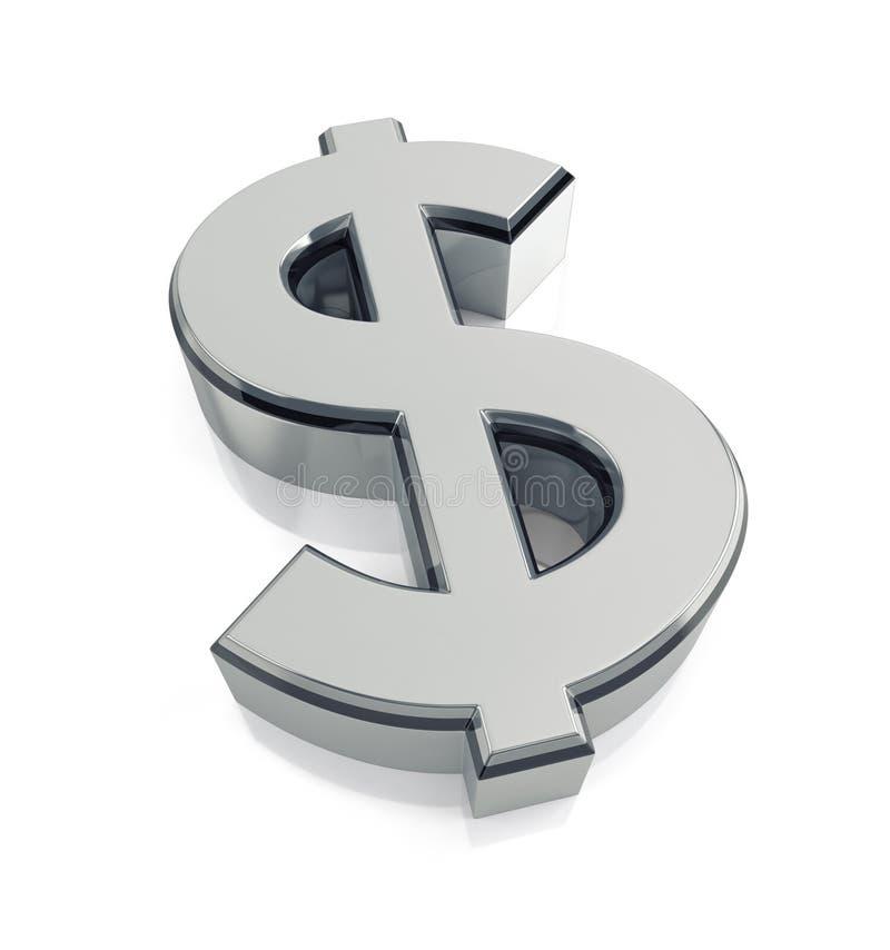 美元的符号标志 库存例证