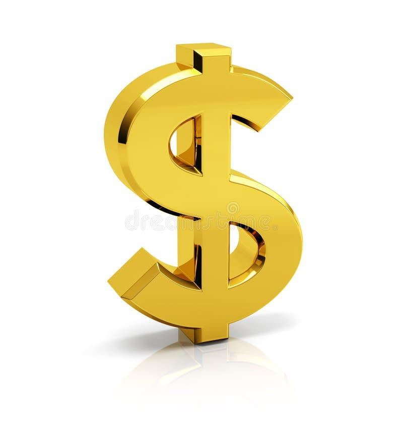 美元的符号标志 向量例证