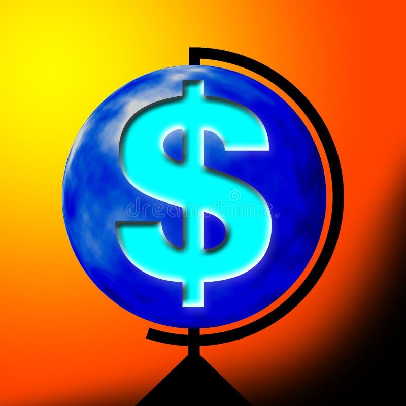 美元的符号 向量例证