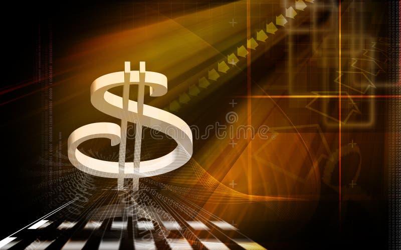 美元的符号 库存例证