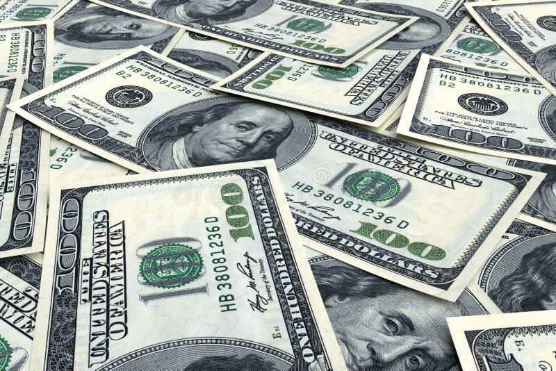 从美元的金钱背景 库存图片