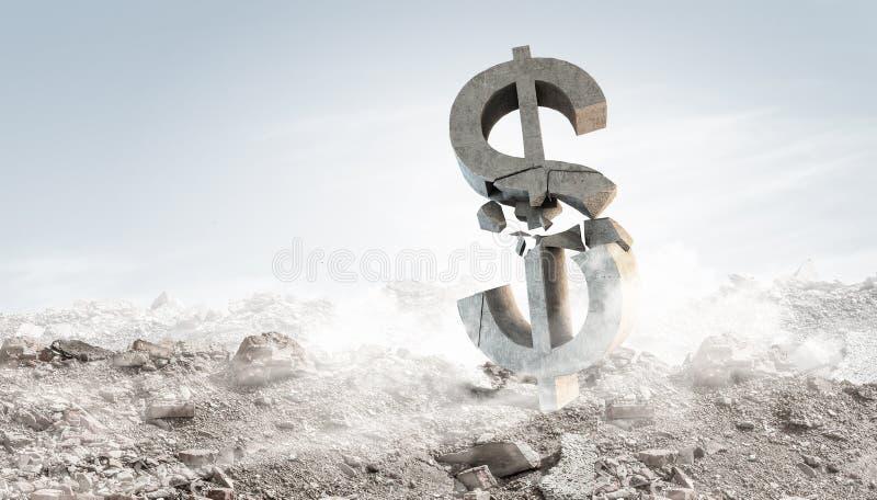 美元石标志 免版税库存照片