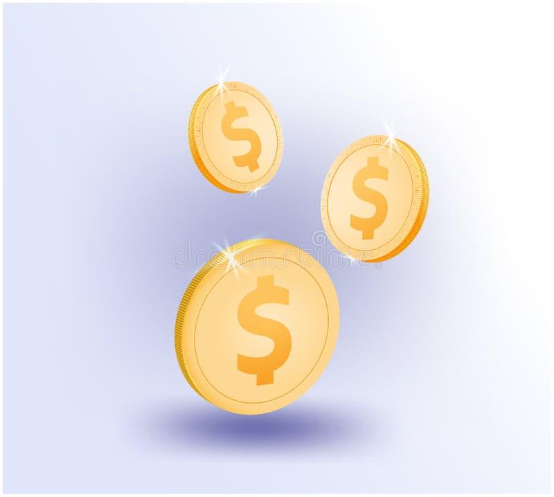 美元硬币企业网上企业事务,全球性,技术,财务,网络,战略,投资 皇族释放例证