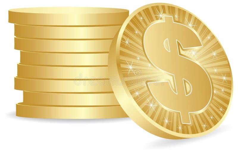 美元硬币 皇族释放例证