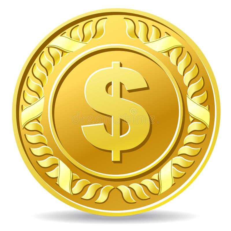 美元硬币 库存例证