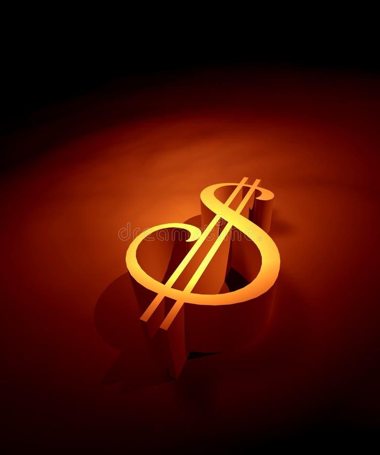 美元符号 皇族释放例证