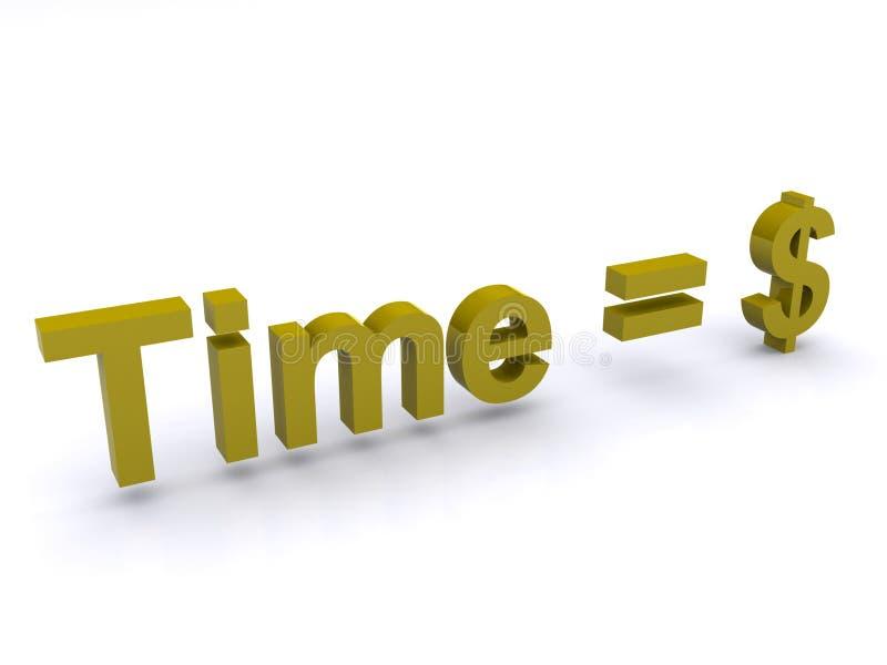 美元等于时间 向量例证