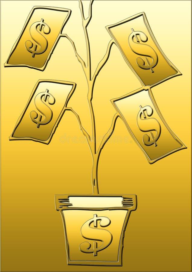 美元结构树 库存例证