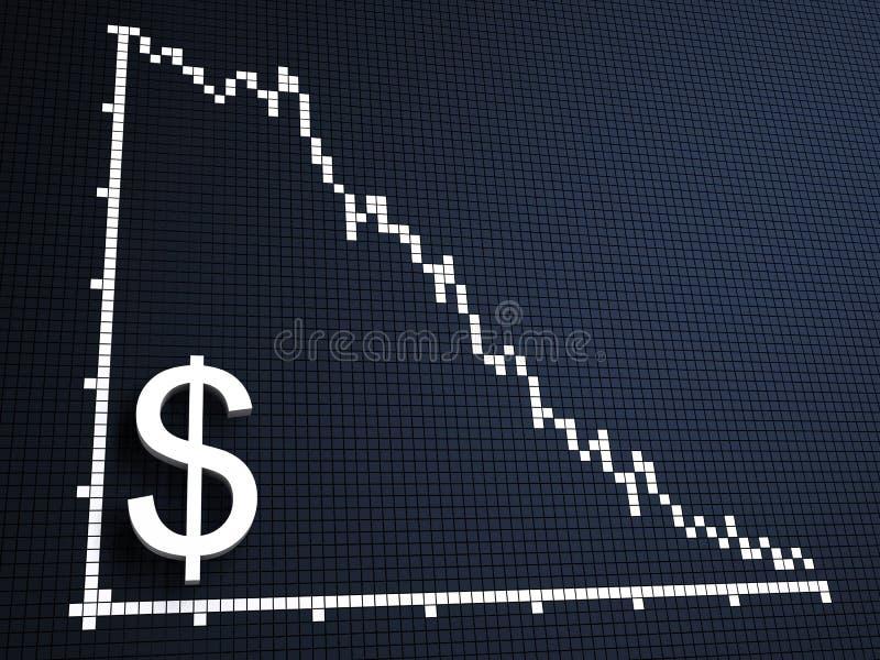 美元统计数据 皇族释放例证