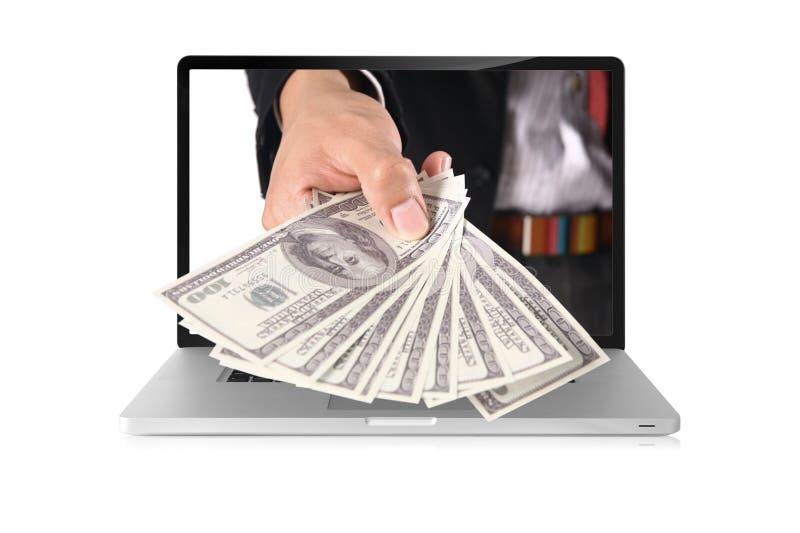 美元膝上型计算机 库存图片