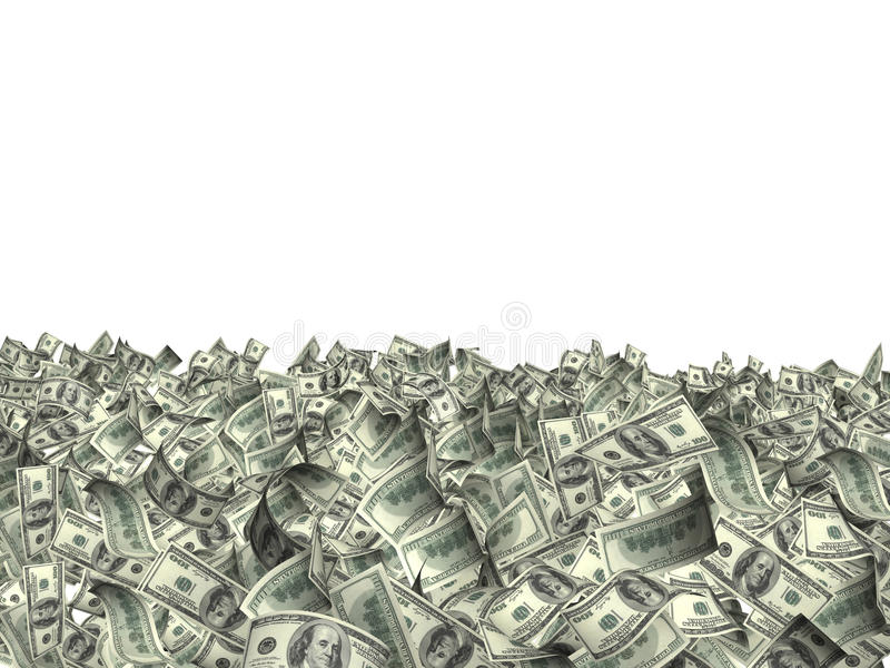 美元许多钞票  皇族释放例证