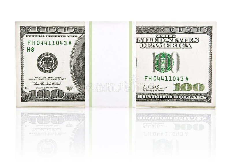美元货币装箱纸的类型 免版税库存照片