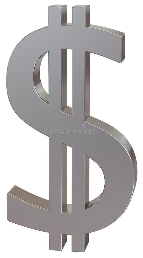 美元货币银符号 皇族释放例证