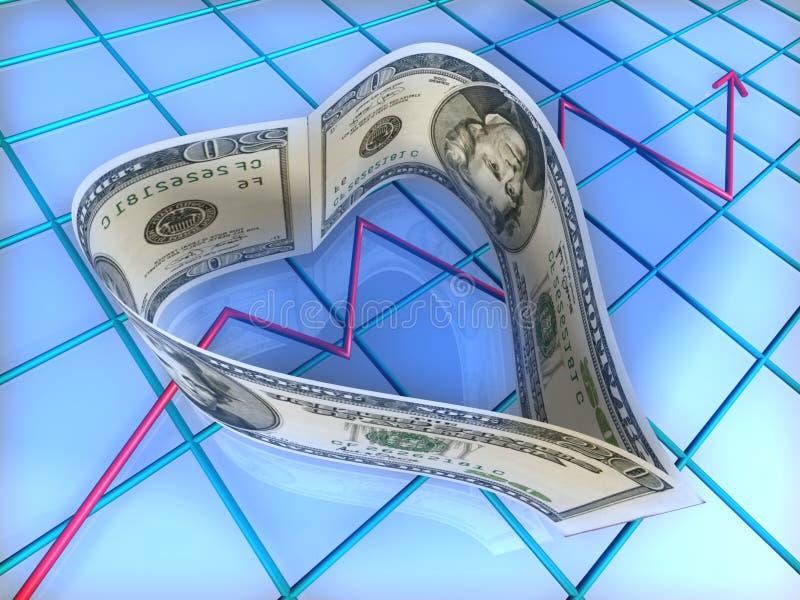 美元重点 库存例证
