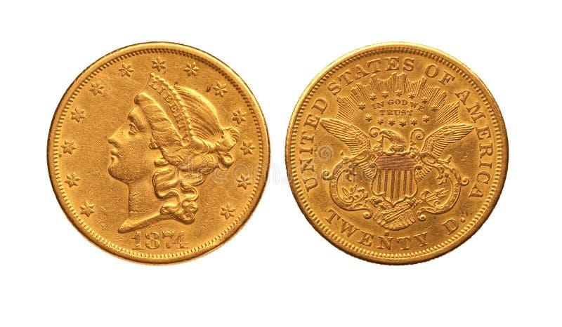 美元金子 免版税库存图片