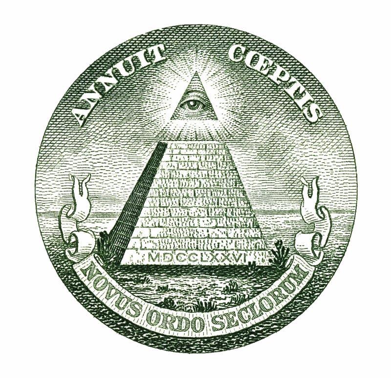 美元金字塔 库存照片