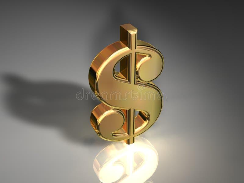 美元金符号 向量例证
