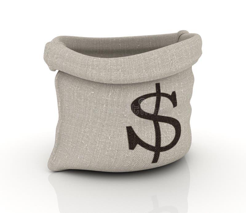 美元金钱大袋 向量例证