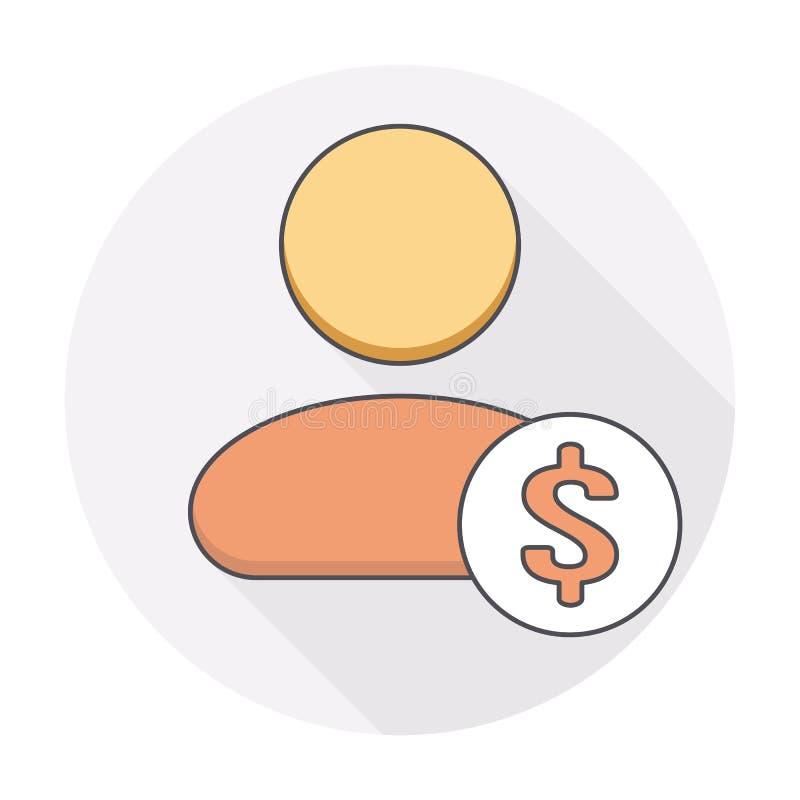 美元金钱用户象 库存例证