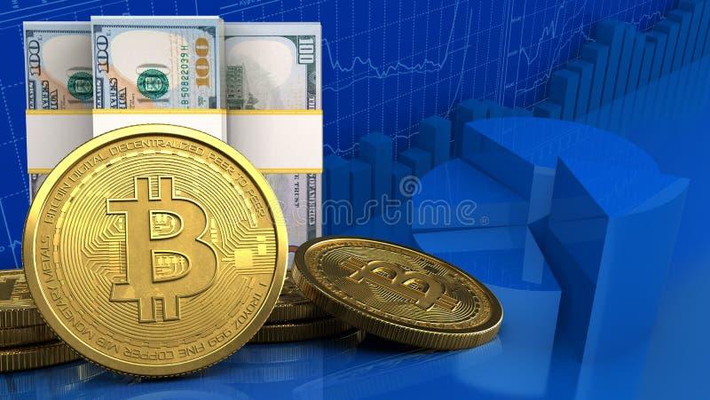 美元钞票3d  库存例证