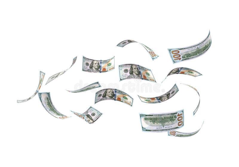 美元雨 库存例证
