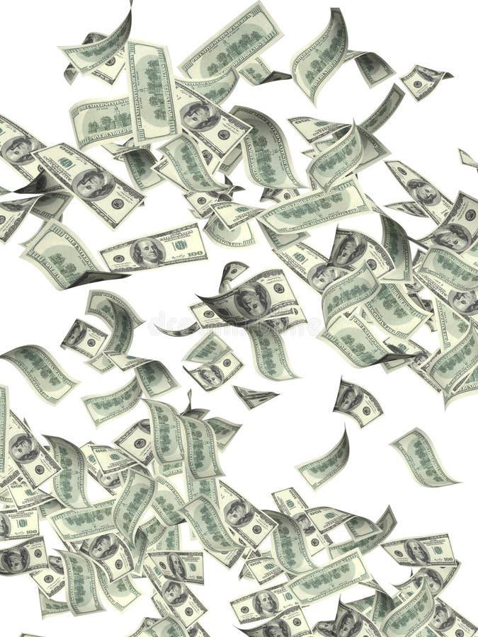 美元飞行钞票  免版税库存照片
