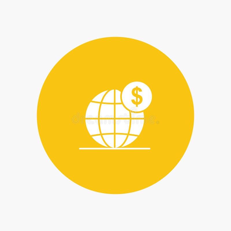 美元,全球性,事务,地球,国际性组织 库存例证