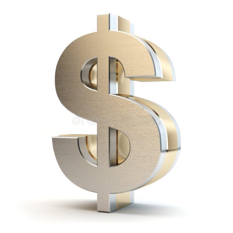 美元,白色背景,3D例证 皇族释放例证