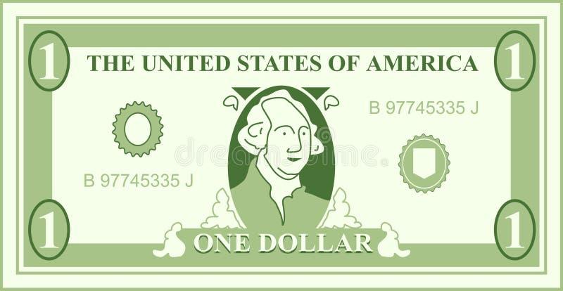 美元 皇族释放例证