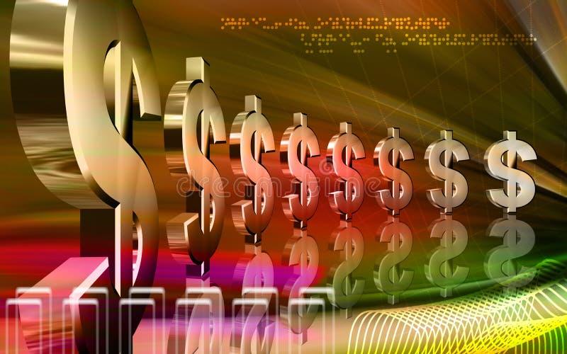 美元 向量例证