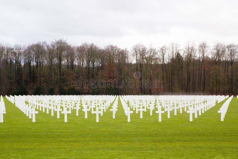 美军公墓在卢森堡 免版税库存图片