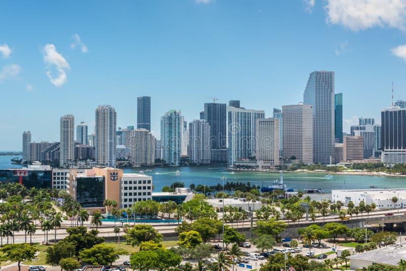 美利坚合众国佛罗里达州迈阿密市景 库存照片