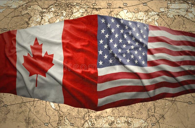 美利坚合众国和加拿大 皇族释放例证