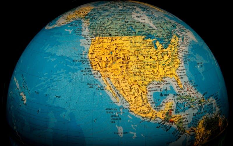 美利坚合众国地球 免版税库存照片