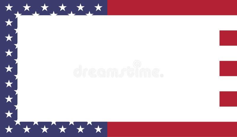 美利坚合众国旗子框架 皇族释放例证
