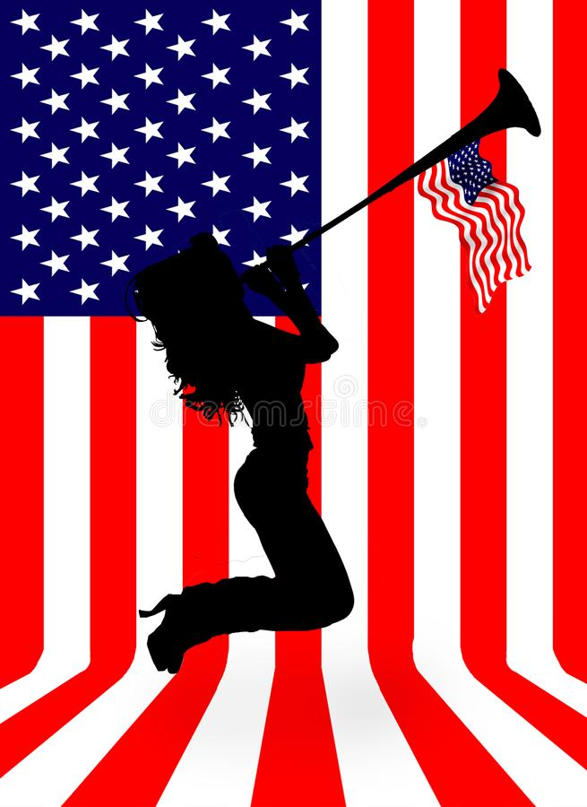 美利坚合众国的旗子 库存例证